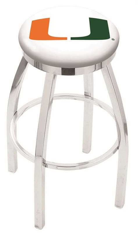 miami fl bar stool w official college logo family leisure