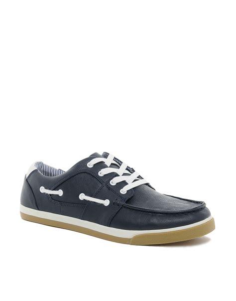 aldo fonzi boat shoes in blue for lyst