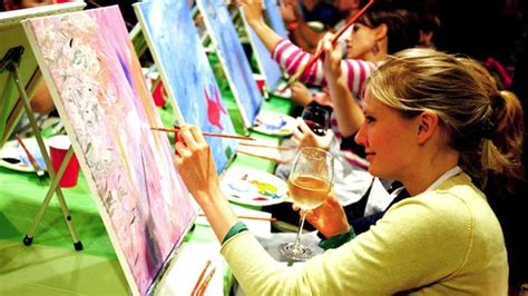 Wine Paint Nite At Katsuya L A Live L A Live