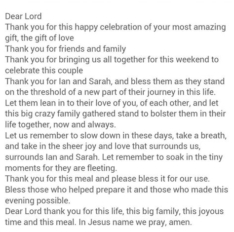 Wedding Blessing Reception Ideas by Beautiful Rehearsal Dinner Prayer Other Wedding Stuff