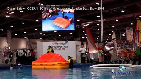 london boat show youtube london boat show 2014 liferaft demonstration by ocean