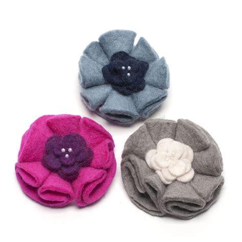 Handmade Felt Brooches - handmade felt pearl pirouette brooch by felt so