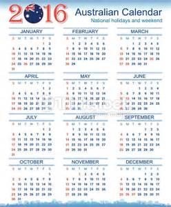 Calendar 2018 Australia Nsw Australian Calendar 2016 Vector Thinkstock