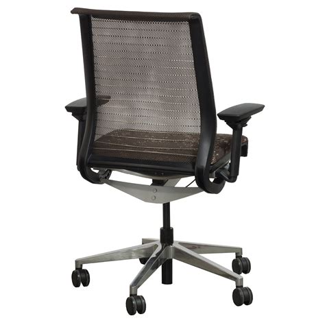 Circle 03 Brown steelcase think used mesh back task chair brown circle