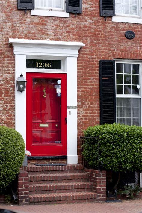 front door colors with red brick red door redrum pinterest