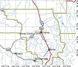Ouray Colorado Map by Ouray County Colorado Detailed Profile Houses Real