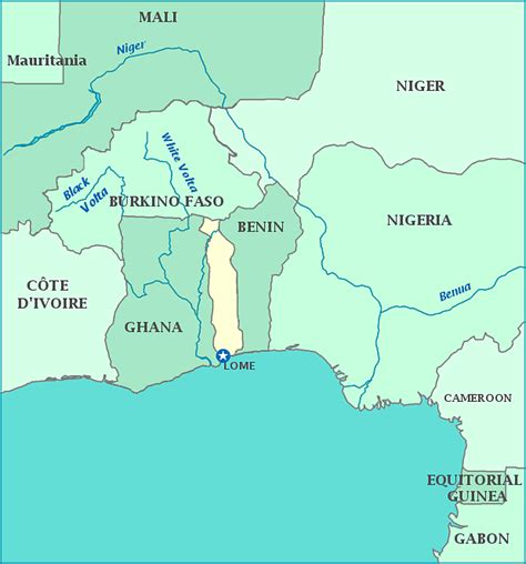 togo on a map map of togo togolese republic maps mapsof net