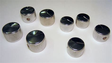 for sale nos vintage chrome g l knobs talkbass