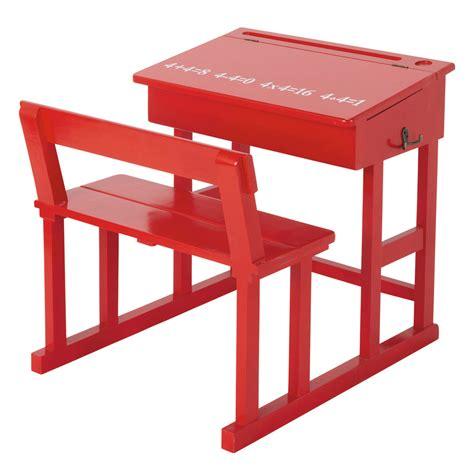 scrivania rossa piccola scrivania rossa per bambini pupitre maisons du monde