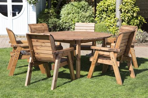 Uk Made Fully Assembled Heavy Duty Wooden Patio Garden Wooden Patio Dining Sets