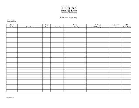 receipt log book template receipt log template 28 images 100 log template daily