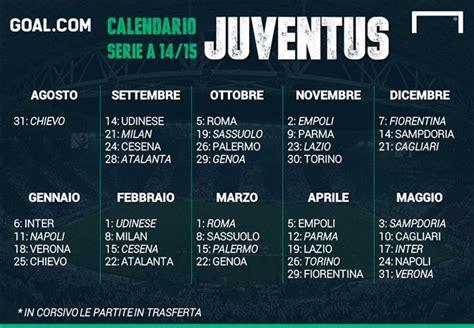 Calendario Serie A Roma Juventus Calendario Serie A 2014 2015 Il Cammino Di Juventus