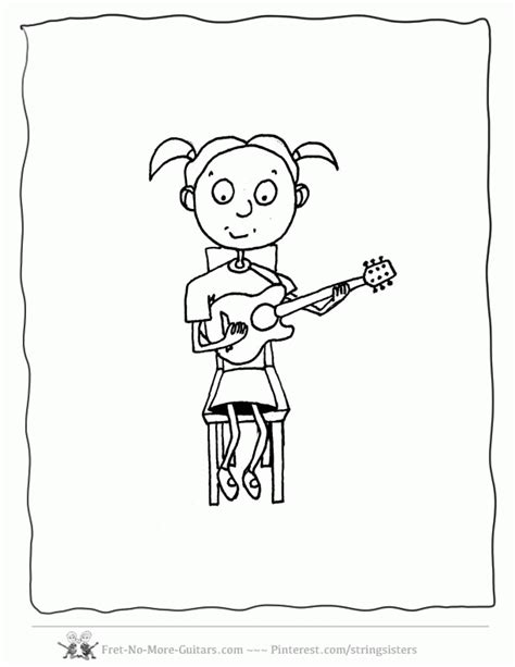 guitar player coloring page guitar coloring pages kid guitar player 3 az coloring pages