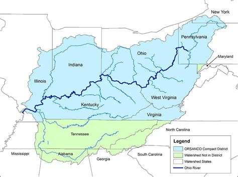ohio on the us map water energy and the ohio river valley s new course