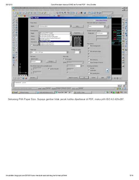 merubah format dwg ke pdf cara merubah autocad dwg ke format pdf
