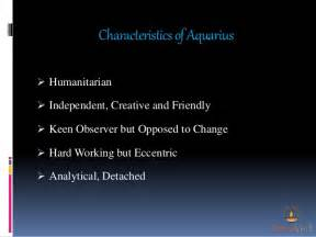 characteristics and personality of aquarius