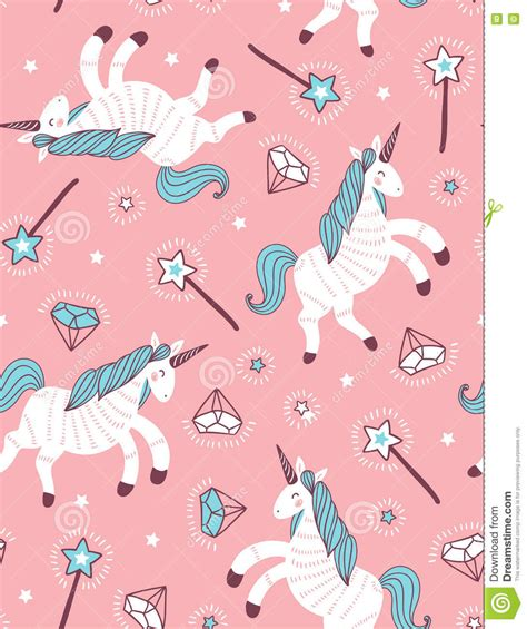 unicorn snowflake pattern vector seamless pattern with unicorn magic wand and