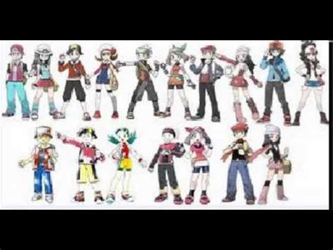 pokemon protagonists youtube