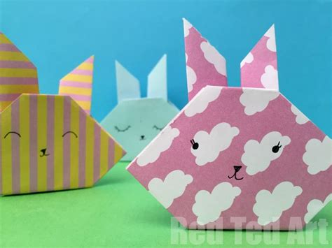 Simple Origami Bunny - easy origami bunny how to ted s ted