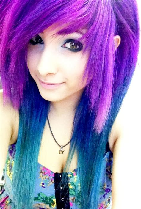 dyed emo hairstyles 17 best images about emo punk goth scene hair cuts on
