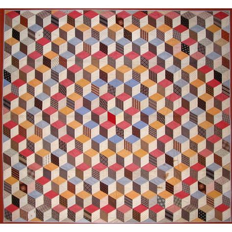 Antique Quilts Tumblingblocks Jpg