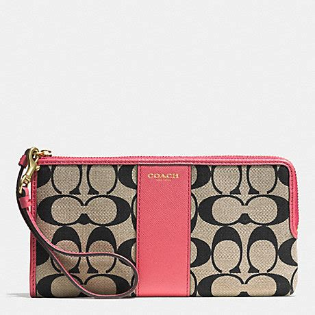 23 5 New 4in1 Smooth Leather 2249 1 Coach F52125 L Zip Wallet In Printed Signature Gd Lt