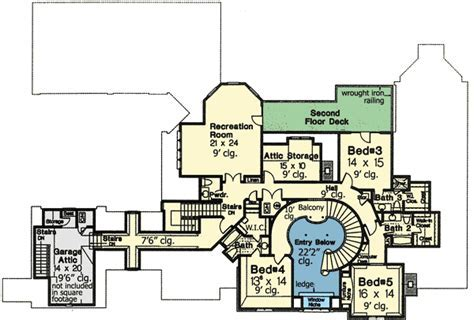 Plan W48266FM: Dream Home Plan with Three Staircases   e