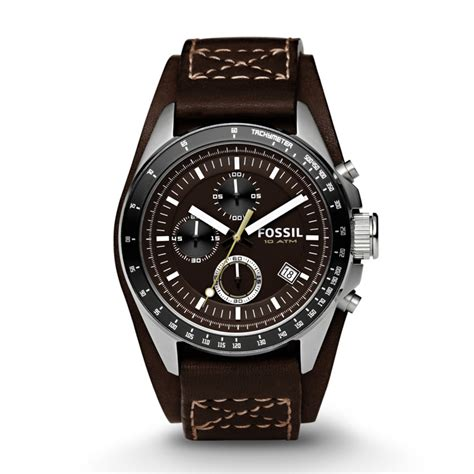 Fossil Fs4929 Silver Coklat fossil decker chronograph cuff leather brown ch2599 fossil 174