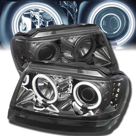 Led Headlights Jeep Grand 99 04 Jeep Grand Dual Halo Led Projector