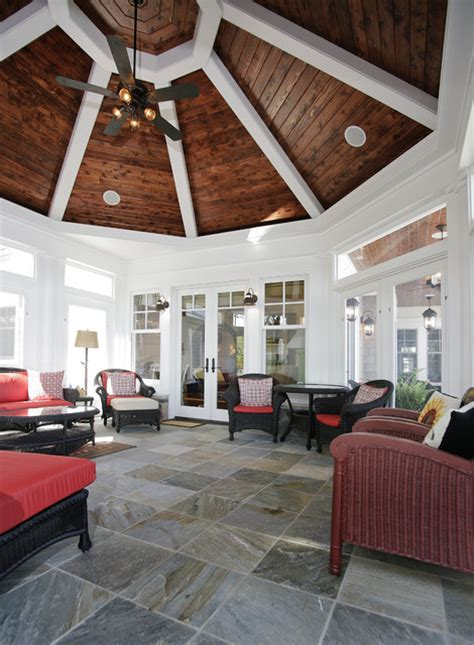 octagonal sunroom house plan hunters octagonal screen porch traditional porch chicago
