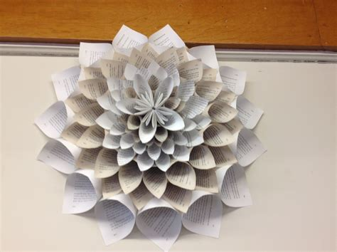 Paper Crafts For Adults - book craft at greenfield library library as
