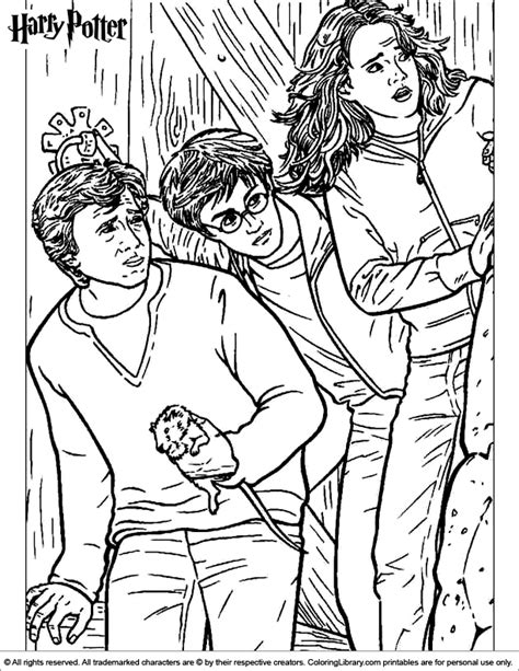 harry potter coloring pages ron harry potter coloring picture