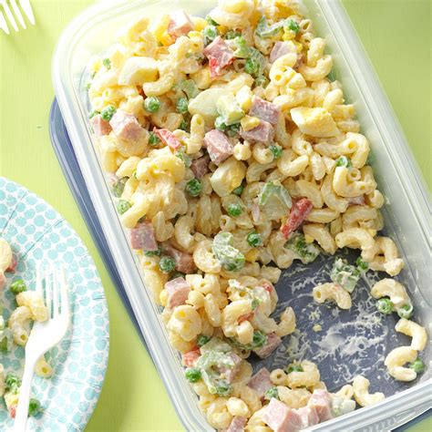 easy pasta salad recipe easy macaroni salad recipe taste of home