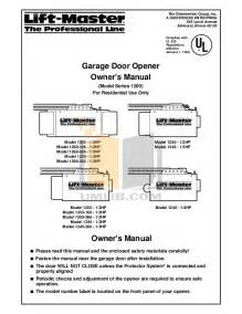 chamberlain garage door opener instruction manual download free pdf for chamberlain liftmaster 1255 2r