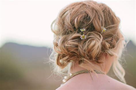 Wedding Boho Updo by Bohemian Bridal Updo Hair Ideas Elizabeth Designs
