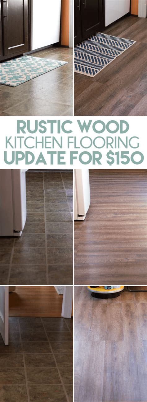 10 easy and inexpensive diy floor finishes 187 curbly diy inexpensive rustic wood kitchen floors