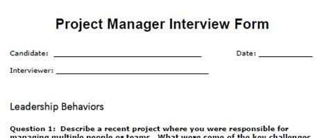 Manager Questions by Project Manager Questions Tool Kit Resume Template