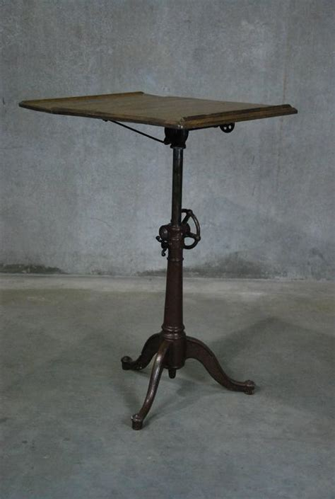 1910 Cast Iron Adjustable Drafting Table At 1stdibs Hamilton Manufacturing Company Drafting Table