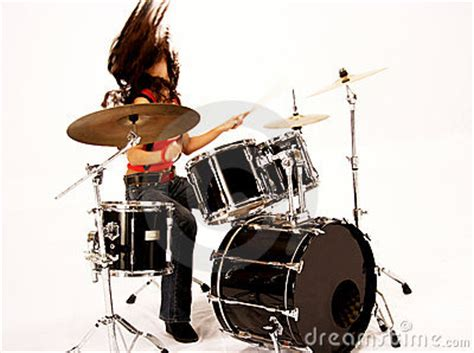 hot chick playing drums drummer girl royalty free stock image image 1369206