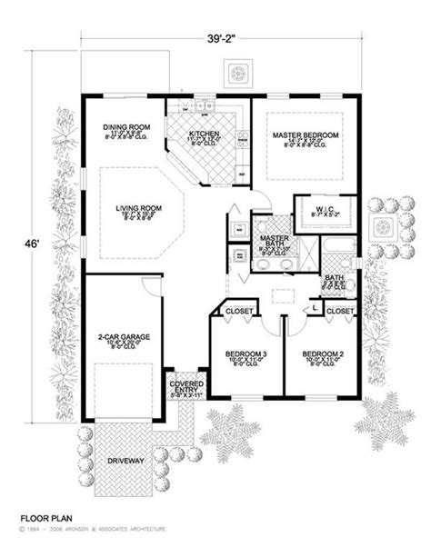 small concrete house plans neat and tidy yet spacious and comfortable house plan