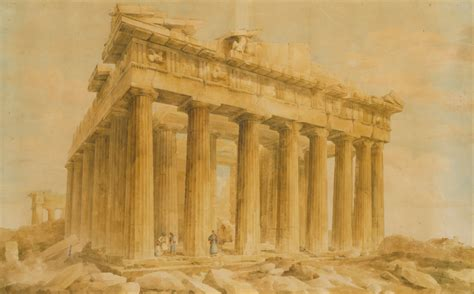 File Lusieri Giovanni Battista The Parthenon From The Northwest Google Art Project Jpg Ancient Greece Powerpoint Template