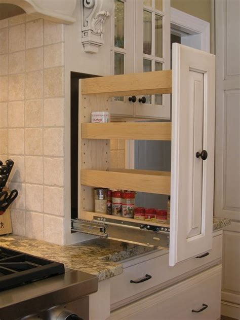 diy pull out spice rack cabinet diy spice rack home design ideas pictures remodel and decor