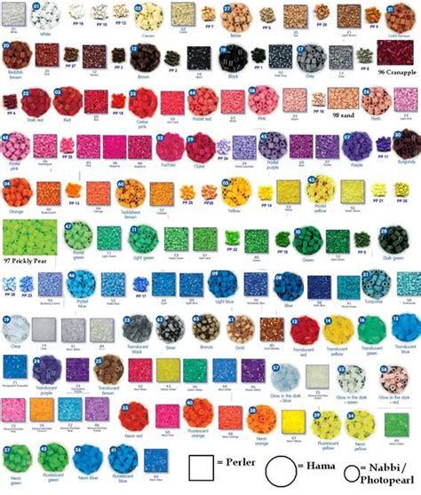 list of perler bead colors perler bead colors perler patterns for andrew