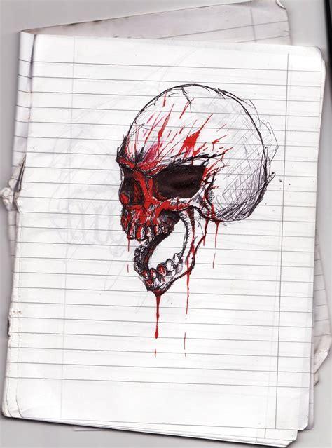 blood skull  satroa  deviantart