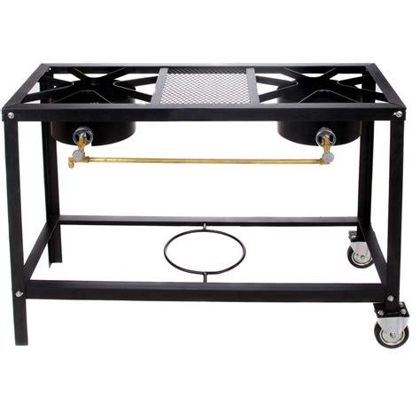cajun cookware 2 burner propane gas stove on cart gl588