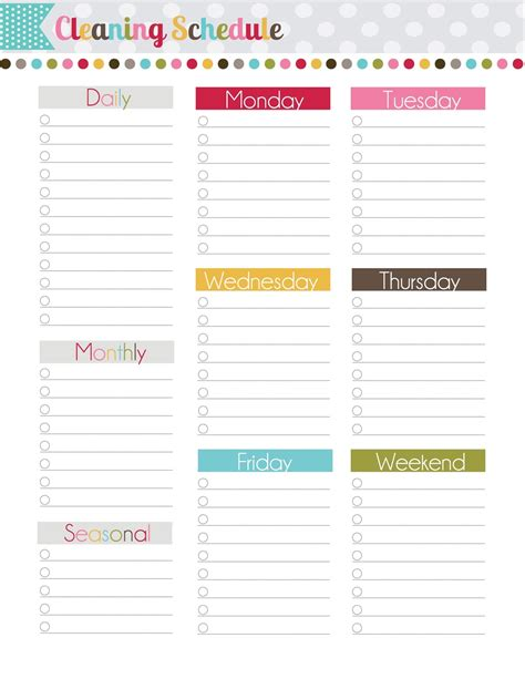 printable housekeeping planner the polka dot posie how to build your perfect planner
