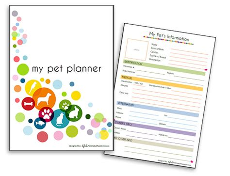 7 Ways To Organize Your Pet by Organize Your Cat S Info In Style With A Downloadable Pet