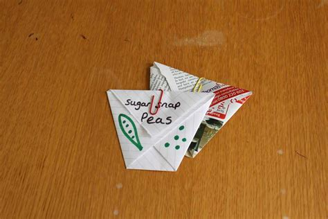 How To Make Paper Packets - how to make an origami seed packet rhs caign for