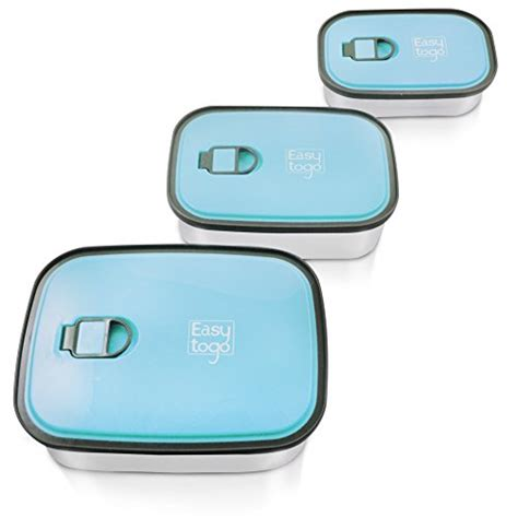 Lunch Box Set Piled Box Family 1 leak proof bento lunch box set 3 pack nesting stainless steel metal storage food containers