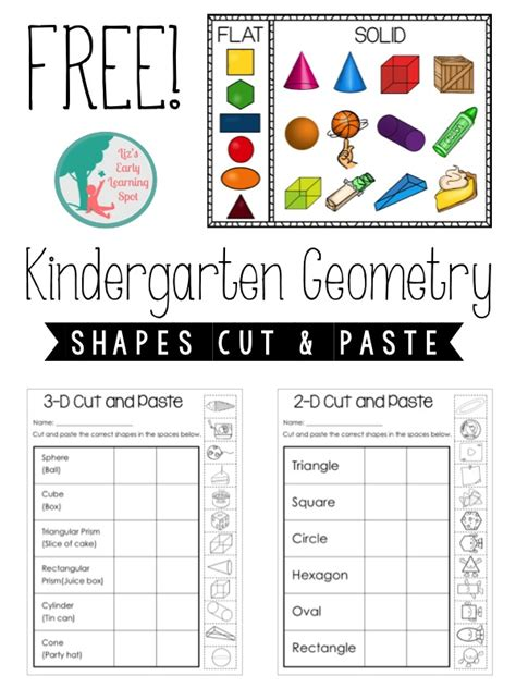 Go Go Cutting And Pasting kindergarten geometry 2d and 3d shapes liz s early learning spot